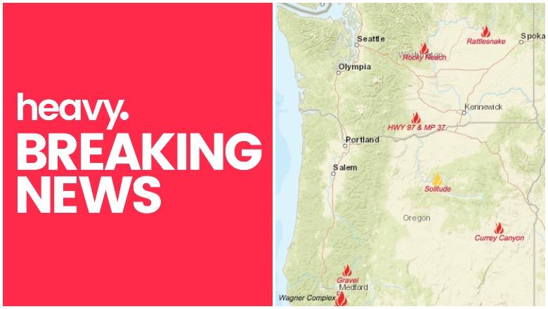 Oregon Washington Fire Maps