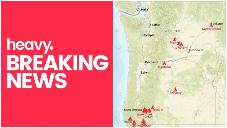 Oregon Washington fires near me