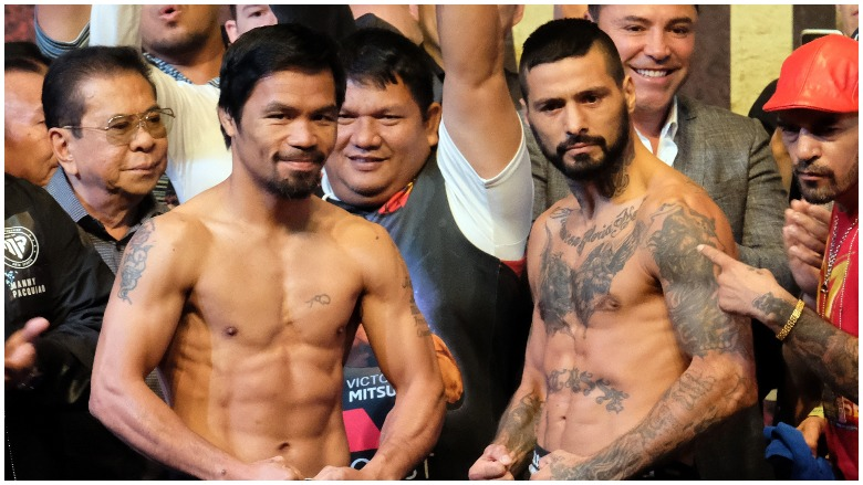 Manny Pacquiao and Lucas Matthysse