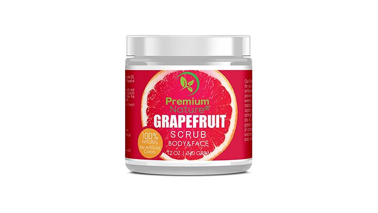 Grapefruit sea salty body scrub with shea butter