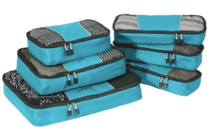 six piece packing cubes