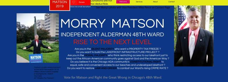 Morry Matson Campaign page