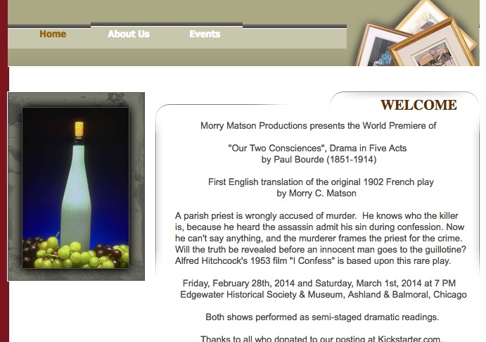 Morry Matson Productions website