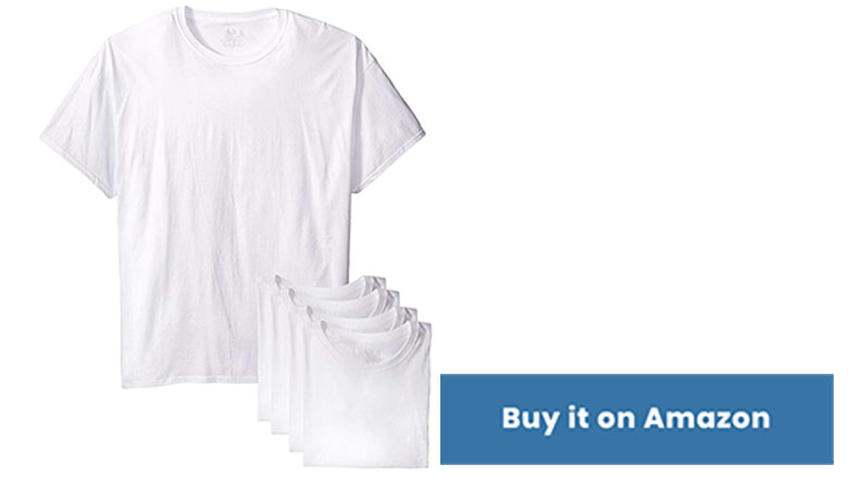 fruit of the loom mens stay tucked 6 pack t shirt