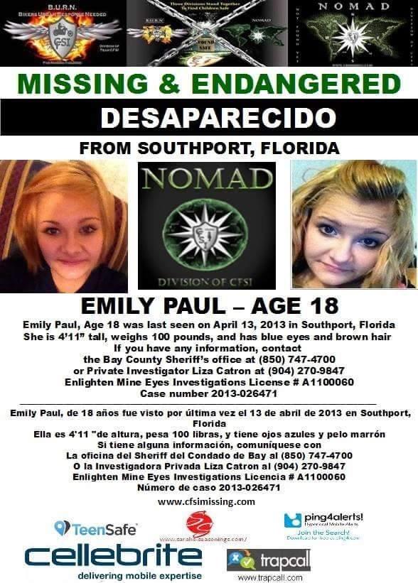 Emily paUL MISSING poster