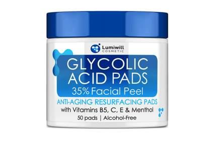 glycolic peeling pads