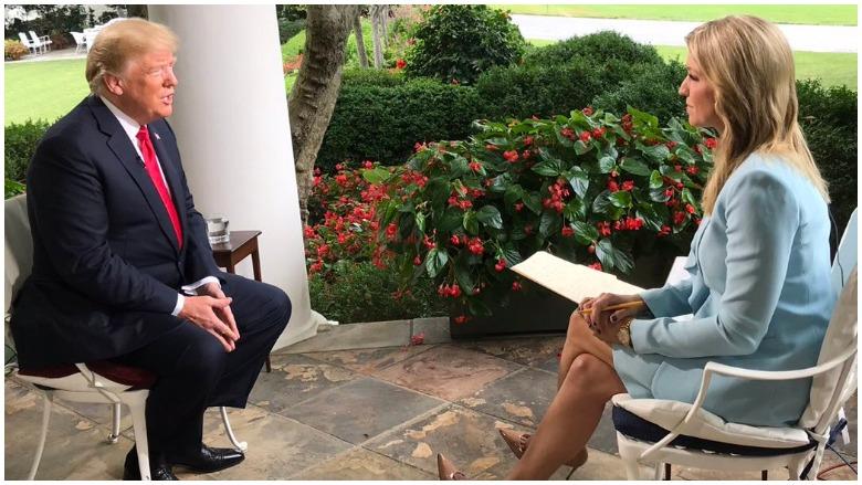 Ainsley Earhardt and Trump