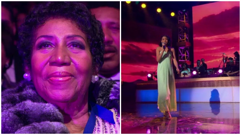 Aretha and Victorie Franklin