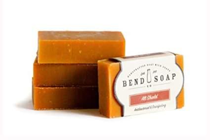 tan moisturizing goat milk soap
