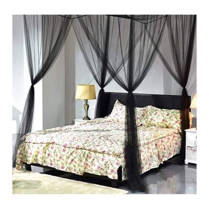 black mosquito netting for canopy bed