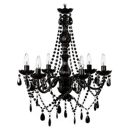 black six light chandelier