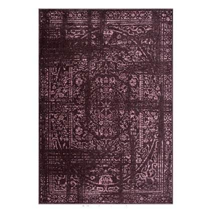 burgundy distressed area rug