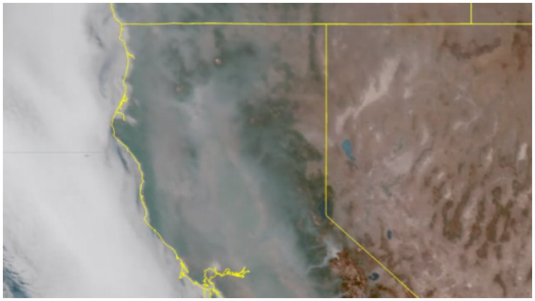 california smoke map
