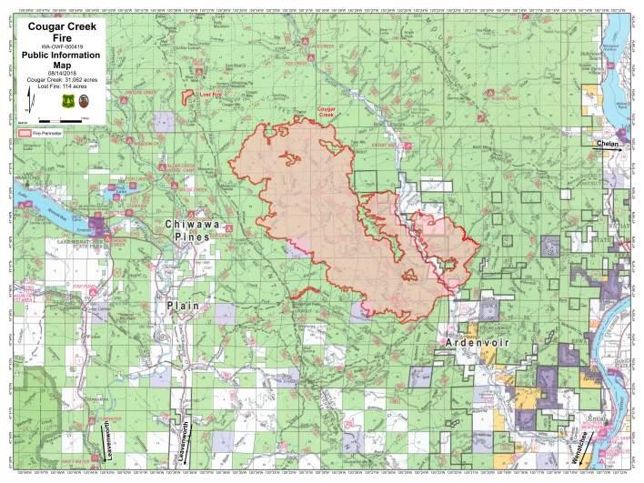 Cougar Creek Fire Map