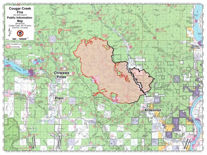Cougar Creek Fire Map