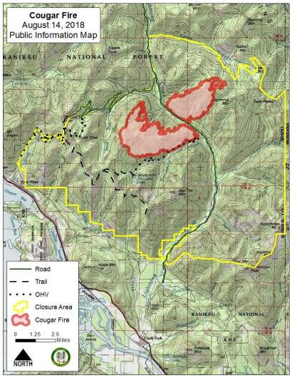 Cougar Fire Map