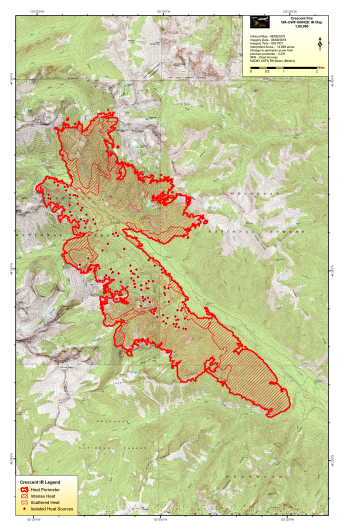 Crescent Mountain Fire Map