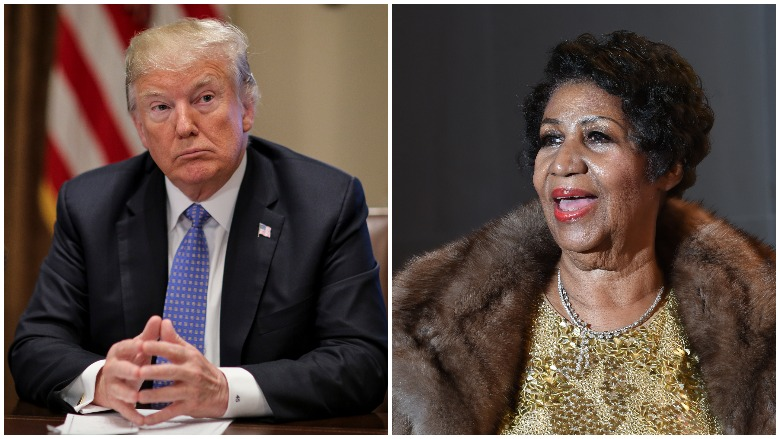 Donald Trump & Aretha Franklin