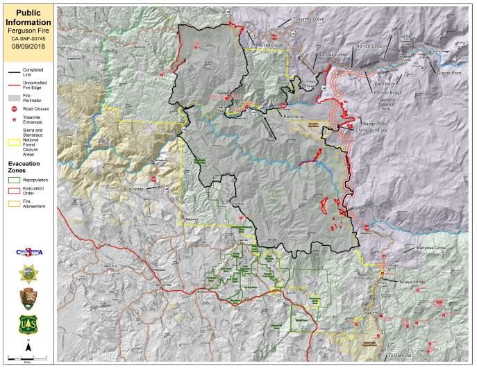 Ferguson Fire Map August 9