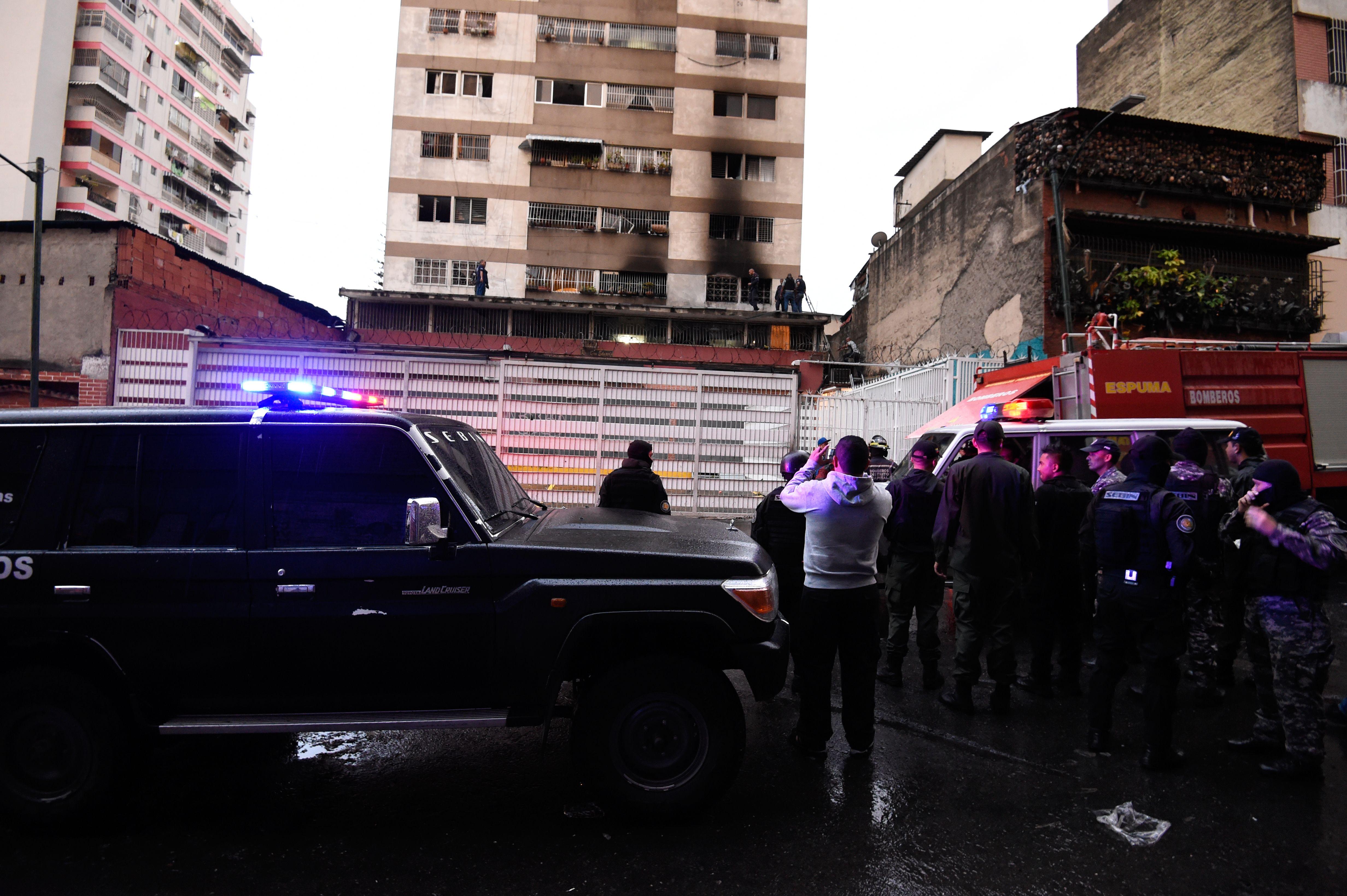 Nicolas maduro assassination scene