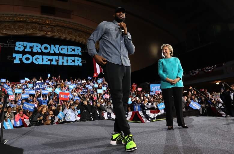 LeBron James Hillary Clinton