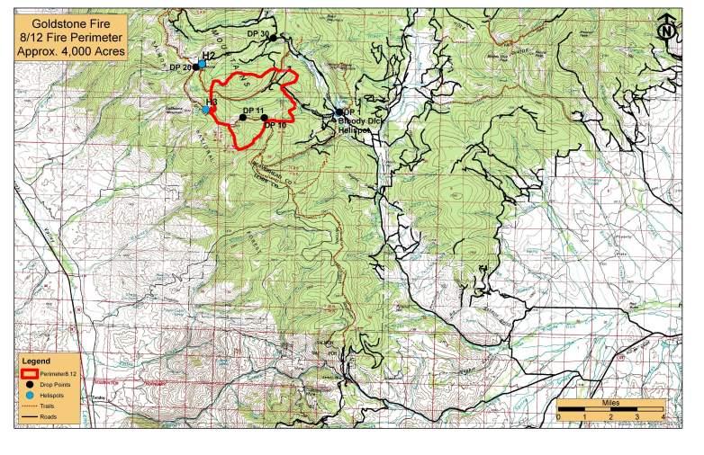 Goldstone Fire Map