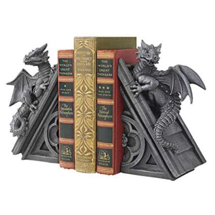 gothic dragons bookends