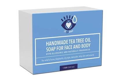 tea tree oil soap and eyelid scrub