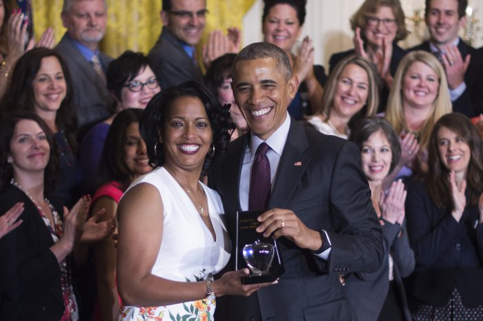Jahana Hayes and President Obama
