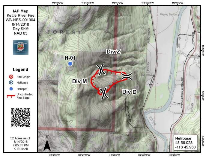 Kettle River Fire Map