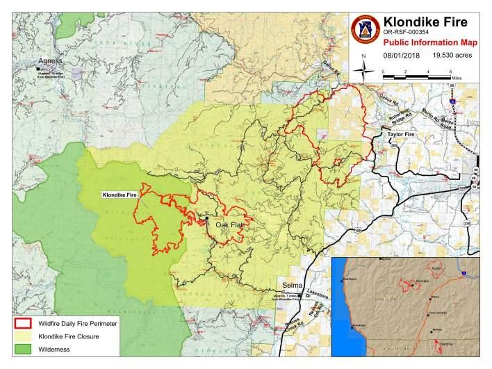 Klondike fire map