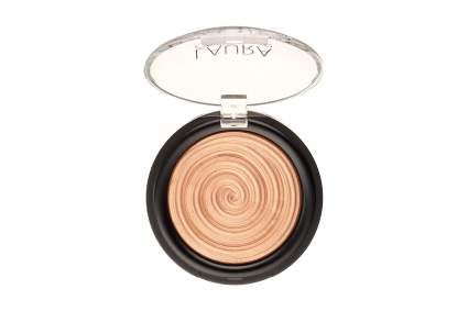 Compact of swirling highlight makeup