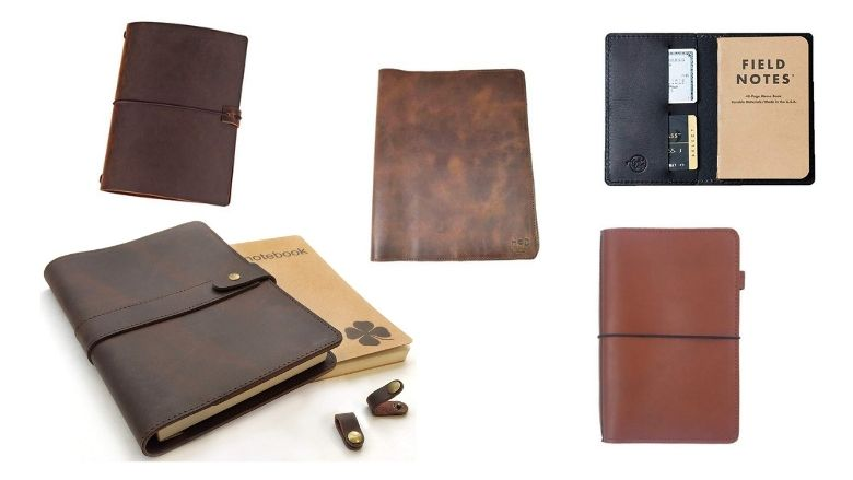 PERSONALIZED travel journal Gifts for Dad notepad gifts for men Leather traveler notebook notebook wallet