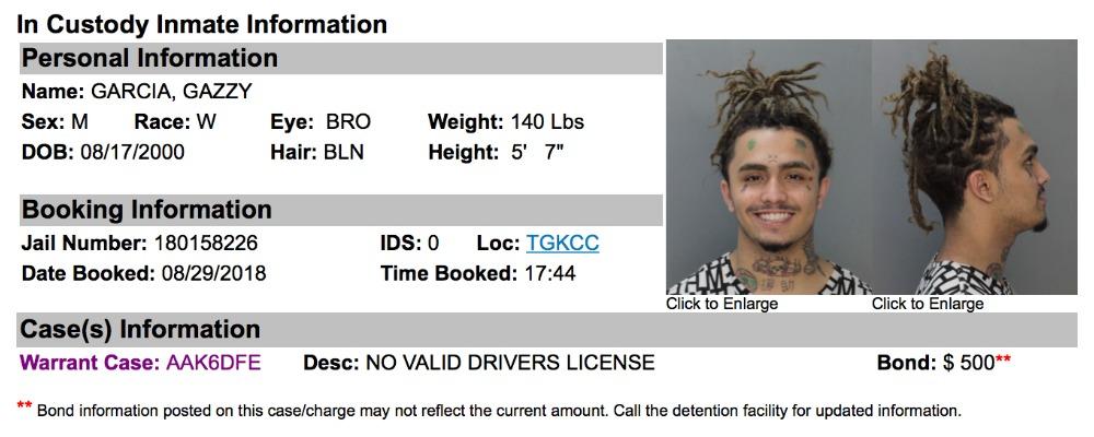 Lil Pump arrested