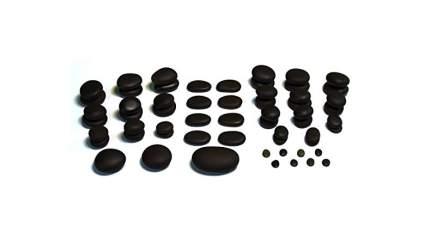 Many black stones for spa