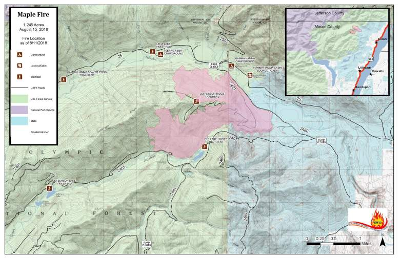 Maple Fire Map August 15