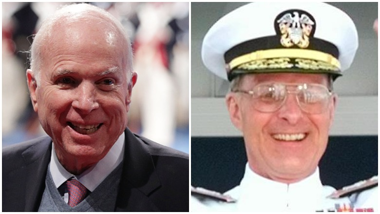 John McCain and Chuck Larson