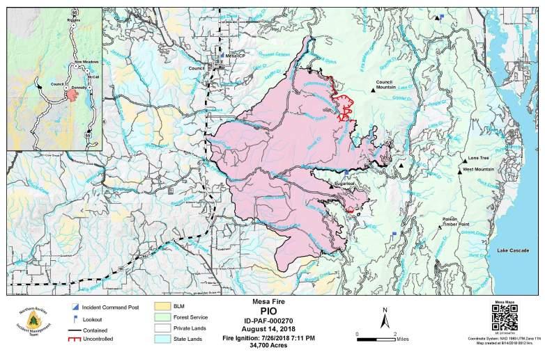 Mesa Fire Map