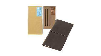 midori leather notebook cover