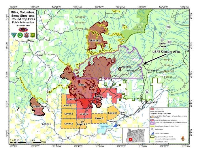 Miles Columbus Snow Shoe Round Top Fires Map