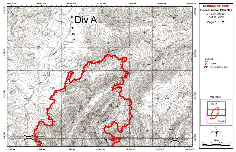 Monument Fire Map