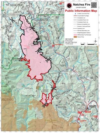Natchez Fire Map August 15