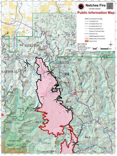 Natchez Fire Map August 17