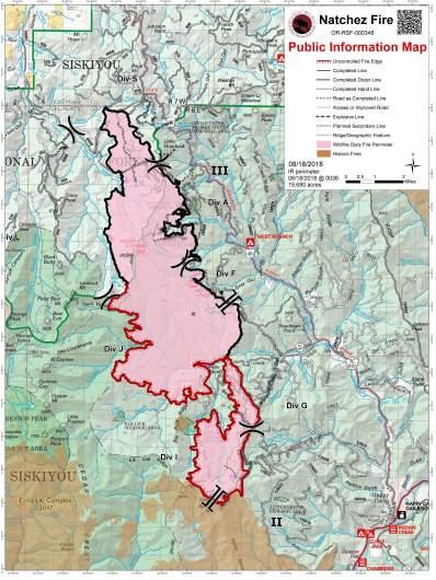 Natchez Fire Map August 19