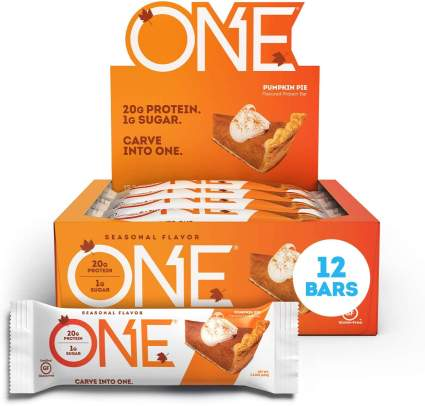 one protein bar pumpkin pie