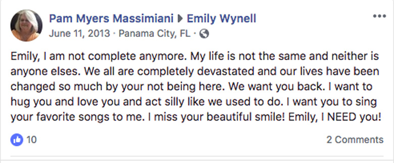 Emily Wynell Facebook page