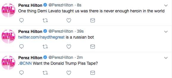 Perez Hilton tweets