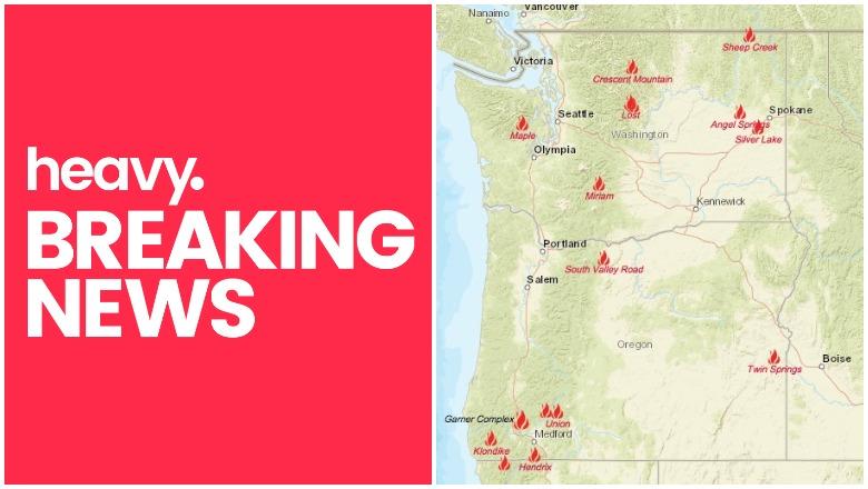 Oregon and Washington Fire Maps