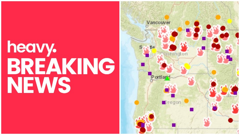 Oregon and Washington Fire Map Near Me