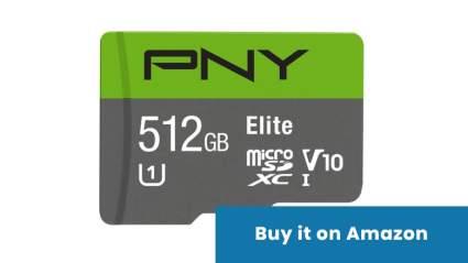 pny elite 512gb microsd